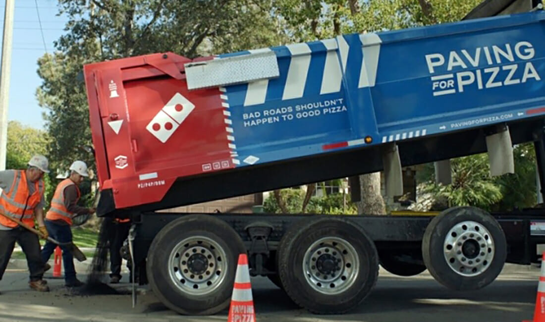 Domino's Paving for Pizza