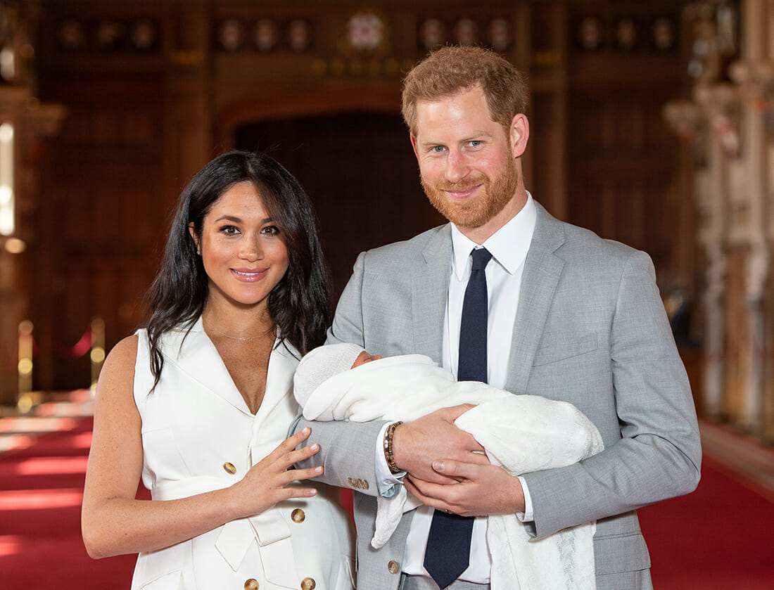 Prince Harry, Meghan Markle, and baby